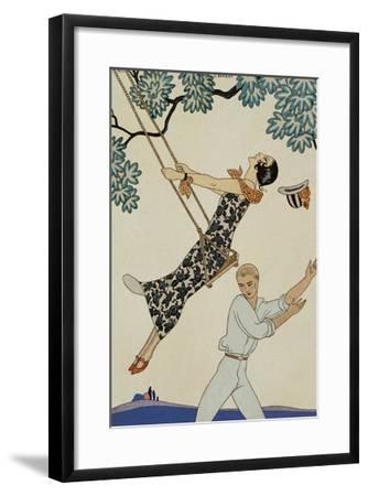 The Swing-Georges Barbier-Framed Giclee Print