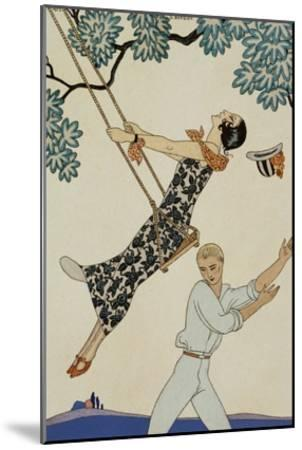 The Swing-Georges Barbier-Mounted Giclee Print