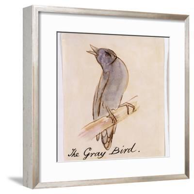 The Gray Bird-Edward Lear-Framed Giclee Print