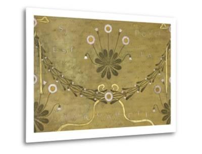La Margarete, Wallpaper Design-William Morris-Metal Print