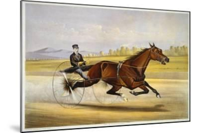 Queen of the Turf, 'Maud S', Driven by W.W. Bair, Lithograph-Nicholas Winfield Leighton-Mounted Giclee Print