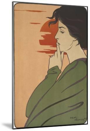 Hour of Silence-Henri Meunier-Mounted Giclee Print