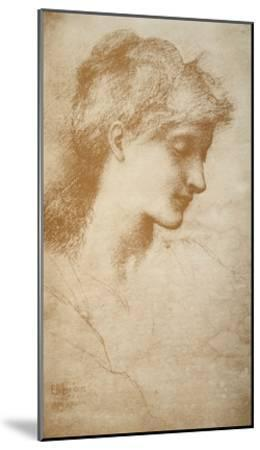 Portrait of a Young Woman-Edward Burne-Jones-Mounted Giclee Print