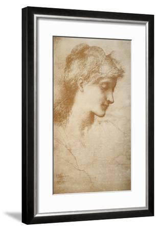 Portrait of a Young Woman-Edward Burne-Jones-Framed Giclee Print