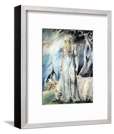 Moses and the Burning Bush-William Blake-Framed Premium Giclee Print