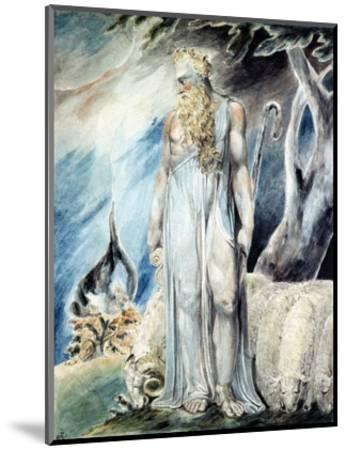 Moses and the Burning Bush-William Blake-Mounted Premium Giclee Print