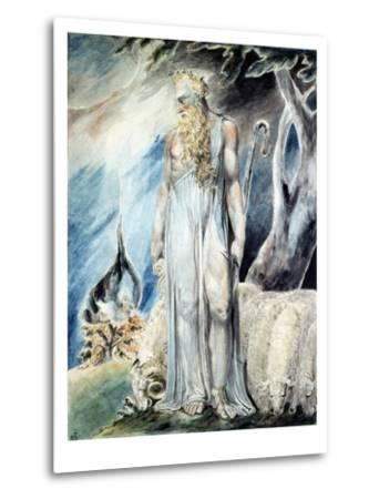 Moses and the Burning Bush-William Blake-Metal Print