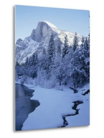 Merced River and Half Dome in Winter-James Randklev-Metal Print