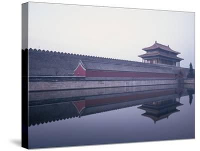 Moat Surrounding Forbidden City-Yang Liu-Stretched Canvas Print