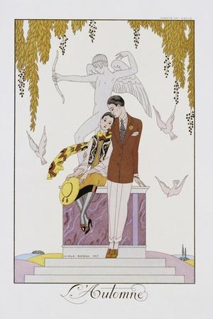 L'Automne-Georges Barbier-Stretched Canvas Print