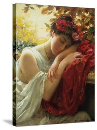 Autumn-Thomas Benjamin Kennington-Stretched Canvas Print