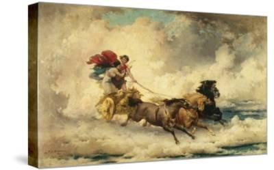 Apollo in the Chariot of the Sun-Frederik Arthur Bridgman-Stretched Canvas Print