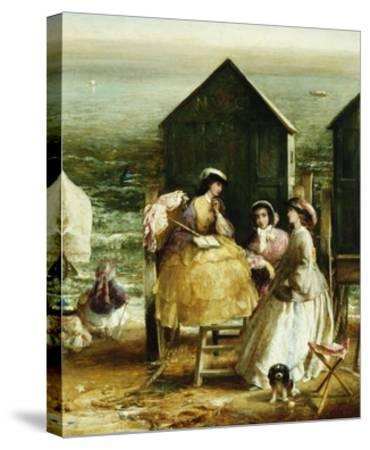 The Bathing Hut-Charles James Lewis-Stretched Canvas Print