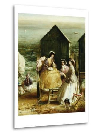 The Bathing Hut-Charles James Lewis-Metal Print