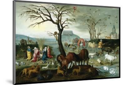 Noah's Ark-The Animals Leave the Ark-Jacob Bouttats-Mounted Premium Giclee Print
