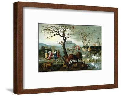 Noah's Ark-The Animals Leave the Ark-Jacob Bouttats-Framed Premium Giclee Print
