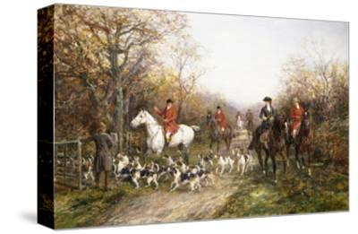 Going Through the Copse-Heywood Hardy-Stretched Canvas Print