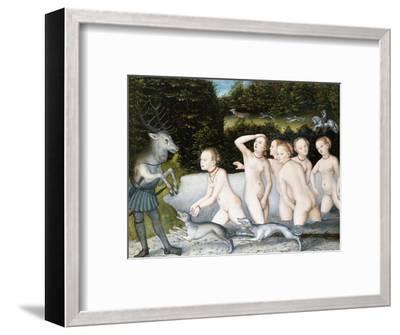 Diana and Actaeon-Lucas Cranach the Elder-Framed Premium Giclee Print