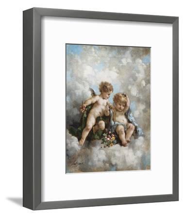 Cherubs in the Clouds-Charles Lutyens-Framed Premium Giclee Print