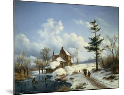 A Clear Winter's Day-Cornelius Lieste-Mounted Giclee Print