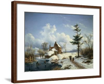 A Clear Winter's Day-Cornelius Lieste-Framed Giclee Print