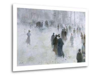 A Walk in the Snow-Lucien Frank-Metal Print