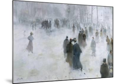 A Walk in the Snow-Lucien Frank-Mounted Giclee Print
