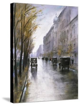 The Tiergartenstrasse, Berlin-Lesser Ury-Stretched Canvas Print