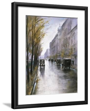 The Tiergartenstrasse, Berlin-Lesser Ury-Framed Giclee Print