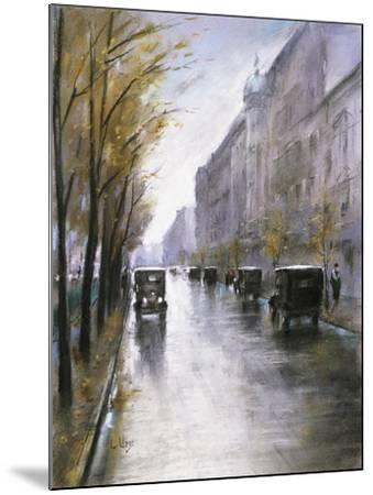 The Tiergartenstrasse, Berlin-Lesser Ury-Mounted Giclee Print