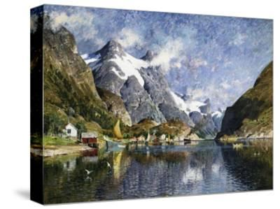 A Norwegian Fjord Painting by Adelsteen Normann--Stretched Canvas Print