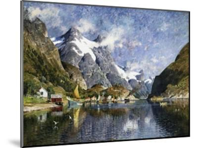 A Norwegian Fjord Painting by Adelsteen Normann--Mounted Giclee Print