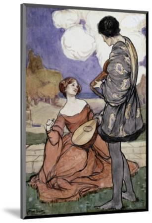 Rustic Music-Byam Shaw-Mounted Premium Giclee Print