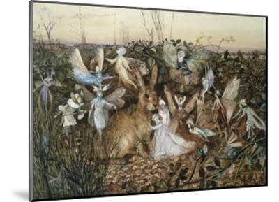 A Rabbit Among the Fairies-John Anster Fitzgerald-Mounted Giclee Print