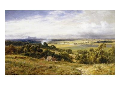 A View of Runnymede with Windsor Castle, England-Robert Gallon-Premium Giclee Print