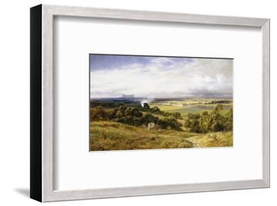 A View of Runnymede with Windsor Castle, England-Robert Gallon-Framed Premium Giclee Print