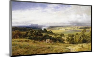 A View of Runnymede with Windsor Castle, England-Robert Gallon-Mounted Premium Giclee Print