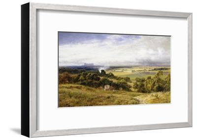 A View of Runnymede with Windsor Castle, England-Robert Gallon-Framed Giclee Print
