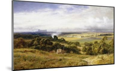 A View of Runnymede with Windsor Castle, England-Robert Gallon-Mounted Giclee Print