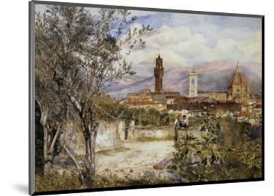 Florence, the Duomo from the Mozzi Garden-Henry Roderick Newman-Mounted Premium Giclee Print