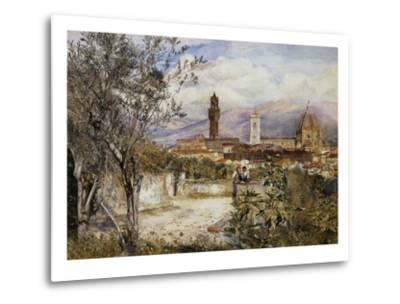 Florence, the Duomo from the Mozzi Garden-Henry Roderick Newman-Metal Print