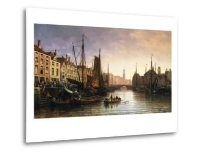 A View of Amsterdam, the Netherlands-Charles Euphrasie Kuwasseg-Metal Print