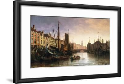 A View of Amsterdam, the Netherlands-Charles Euphrasie Kuwasseg-Framed Giclee Print