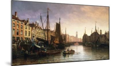 A View of Amsterdam, the Netherlands-Charles Euphrasie Kuwasseg-Mounted Giclee Print