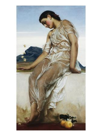 The Knucklebone Player-Frederick Leighton-Framed Giclee Print