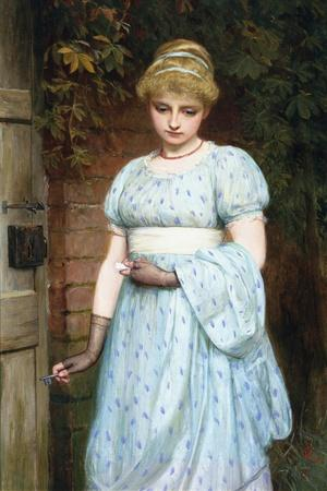 At the Garden Gate-Charles Sillem Lidderdale-Stretched Canvas Print