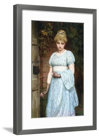 At the Garden Gate-Charles Sillem Lidderdale-Framed Premium Giclee Print