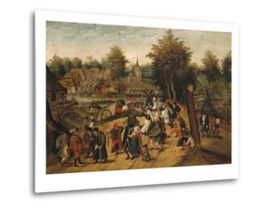 The Return from the Village Fair-Pieter Brueghel the Younger-Metal Print
