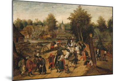 The Return from the Village Fair-Pieter Brueghel the Younger-Mounted Giclee Print