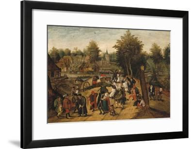 The Return from the Village Fair-Pieter Brueghel the Younger-Framed Giclee Print